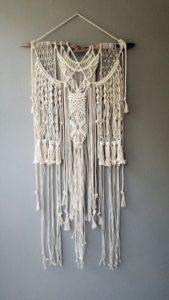dit is een wit wandkleed