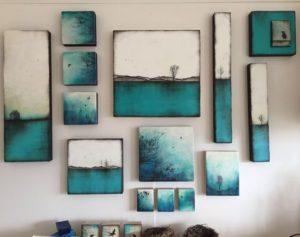 blauw witte schilderijen